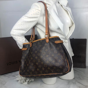Authentic Louis Vuitton Batignolles Handbag DU0085